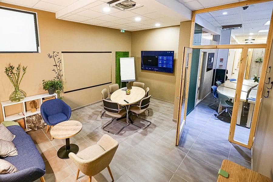 Espace coworking vert