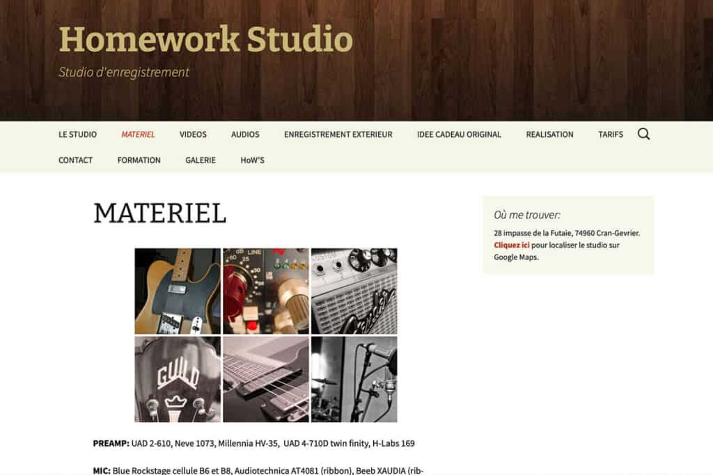Studio enregistrement Annecy