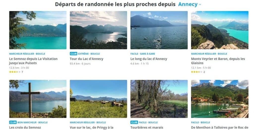 randonnée annecy - application mobile